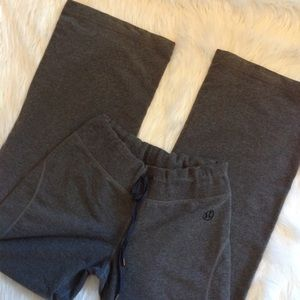 Lululemon dark grey, wide leg, size 4 joggers